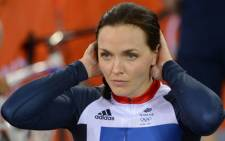 Great Britain's Victoria Pendleton reacts after she and Jessica Varnish were relegated from the Women's team sprint qualifying event of London 2012 Olympic games, on August 2, 2012 in London. Picture: AFP.