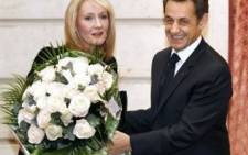 Harry Potter creator J.K. Rowling with French President Nicolas Sarkozy. Picture: AFP/ Benoit Tessier