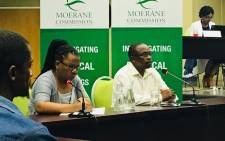 Lwazi Magaqa (right) at the Moerane Commission of Inquiry into political killings in KwaZulu-Natal on 15 January 2018. Picture: Ziyanda Ngcobo/EWN