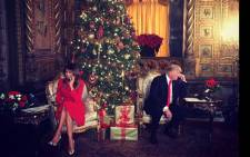 President Donald Trump and first lady Melania Trump helping the children find Santa Claus. Picture: @FLOTUS/Twitter.