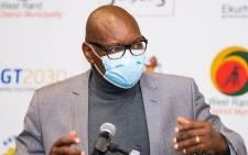 David Makhura visited Chris Hani Baragwanath Hospital on Saturday, 12 June 2021. Picture: Gauteng Province.