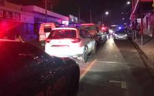 Emergency services on scene after a fatal drive-by shooting in Melville in the early hours of 1 January 2020. Picture: Twitter/@EMER_G_MED