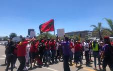 EFF supporters join Numsa and South African Cabin Crew Association (Sacca) members picketing at the SAA Airways Park in Kempton Park on 15 November 2019. Picture: Mia Lindeque/EWN
