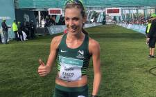 Gerda Steyn won the Women's Ultra marathon during the 50th edition of the Two Oceans Marathon on 20 April 2019. Picture: EWN Sport.