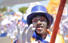 A man takes part in the annual Tweede Nuwe Jaar Minstrel Carnival in Cape Town on 2 January 2016. Picture: EWN.
