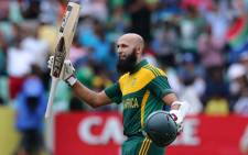 Proteas' batsman Hashim Amla at Sahara Stadium Kingsmead in the ODI match against India on 8 December 2013. Picture: Facebook.