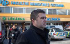Czech Interior Minister Jan Hamacek arrives at the Faculty Hospital in Ostrava, eastern Czech Republic, after a gunman opened fire killing six people, on 10 December 2019. Picture: AFP