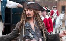 A screenshot of Captain Jack Sparrow from Pirates of the Caribbean.