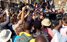 A cellphone image showing paralympian Oscar Pistorius leaving the High Court in Pretoria on Thursday, 11 September 2014. Picture: Sapa.