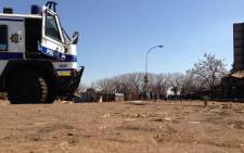 Police van in Protea South during a service delivery protest. Picture: Lesego Ngobeni/EWN