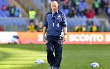 FILE: Italy head coach Conor O'Shea. Picture: AFP
