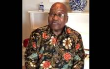 A video screengrab of Jacob Zuma making his Twitter debut.