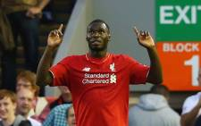 Liverpool's striker Christian Benteke celebrates his goal following a 1-0 win against Bournemouth on 17 August 2015. Picture: Liverpool FC/Facebook.