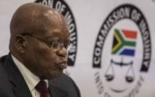 FILE: Former President Jacob Zuma at the state capture commission on 17 July 2019. Picture: Abigail Javier/Eyewitness News.