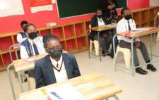The class of 2021 began their national senior certificate exams on 27 October 2021 with English paper one. Picture: @DBE_SA/Twitter.