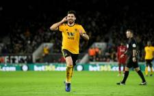 Wolverhampton Wanderers' Ruben Neves celebrates his goal in the FA Cup match against Liverpool on 7 January 2019. Picture: @Wolves/Twitter