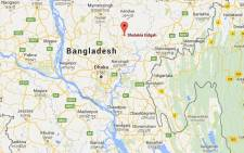 This map shows Sholakia Eidgah in Bangladesh where Muslims were targeted during Eid prayers on 7 July 2016. Picture: Google Earth.