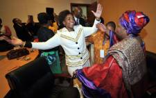Home affairs minister Nkosazana Dlamini-Zuma with International Relations minister Maite Nkoana-Mashabane after the AU Candidature vote. Picture: Jacoline Prinsloo/GCIS.