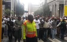 Taxi operators march through the streets of Johannesburg CBD on 17 November 2014. Picture: Aurelie Kalanga/EWN