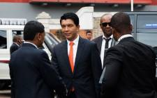 Andry Rajoelina arrives at Madagascar's Constitutional Court in Ambohidahy, on 8 January 2019. Picture: AFP
