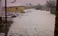 Freezing cold temperatures caused snow in Mt Frere in the Eastern Cape on 25 July 2011. Picture: Siphokazi Makaula/iWitness