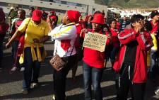 SAPS administration workers march in Cape Town on 29 May 2013. Picture: Lauren Isaacs/EWN