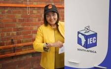 Good party leader Patricia de Lille casts her vote in Pinelands. Picture: Bertram Malgas