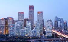 A general view shows the skyline of a central business district in Beijing on 27 November 2013. Picture: AFP.