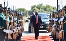 President Cyril Ramaphosa led Freedom Day celebrations in Botshabelo in the Free State on 27 April 2021. Picture: Twitter/@PresidencyZA