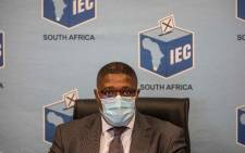 IEC chairperson Glen Mashinini at a press briefing in Centurion, Johannesburg on 20 May 2021 on the upcoming local government elections. Picture: Abigail Javier/Eyewitness News