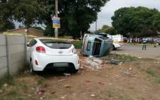Two children were killed in a collision between a car and a taxi in Rustenburg. Picture: ER24