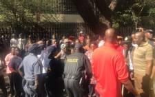 Berea residents gather to protest against drug dealers in the area. Picture: Moses Moyo.