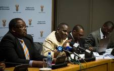 SA police commissioner Riah Phiyega addresses the press in Cape Town regarding the latest 2014/2015 crime statistics. Picture: Anthony Molyneaux/EWN.