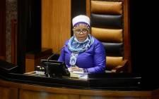 Speaker of the National Assembly Nosiviwe Mapisa-Nqakula. Picture: @ParliamentofRSA/Twitter