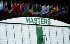 The leaderboard at the Masters. Picture: Facebook.com