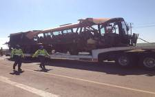 Thirty people were killed an accident involving a bus and a truck in Moloto Road, near Kwaggafontein in Mpumalanga. Picture: Barry Bateman/EWN