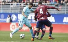 Barcelona's Luis Suarez in action during his team's La Liga clash against Eibar. Picture: @FCBarcelona/Twitter.