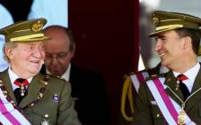 FILE: Felipe will wear military uniform and swear loyalty to Spain's constitution before addressing the chamber. Picture:AFP.