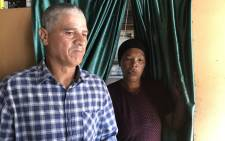 John Julies and his wife, the parents of Brionay Daniels, who was wounded in an gang-related incident in Bokmakierie, Athlone. Picture: Lauren Isaacs/EWN