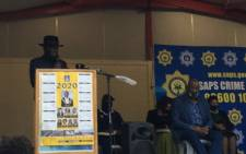 Police Minister Bheki Cele visited KwaNdengezi township in KZN on 28 September 2020 where nine people were killed in two separate crimes over the weekend. Picture: Nkosikhona Duma/EWN