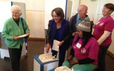 Patricia de Lille casts her vote on 3 August, 2016 in Cape Town. Picture: Lauren Isaacs/EWN.