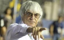 Formula 1 boss Bernie Ecclestone. Picture: EPA.