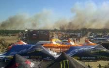 A massive veld fire raged near Duynefontein, just outside Melkbosstrand, on 30 March 2013. Picture: Twitter