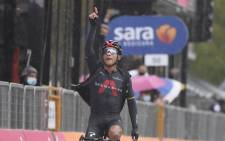 Team INEOS Grenadiers rider Jhonatan Narvaez wins the stage 12 of the Giro d'Italia on 15 October 202. Picture: @giroditalia/Twitter