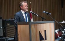 Denmark Foreign Minister Anders Samuelsen speaks during the Danish launch party for a United States based nationwide cultural campaign at The Nordic Museum on 3 May 2018 in Seattle, Washington. Picture: AFP