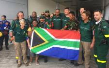 Team SA has arrived and with the assistance of locals,the Gift of the Givers volunteers have been able to find shelter. Picture: Ziyanda Ngcobo/EWN.
