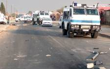 Police Nyala's patrolled the streets of Daveyton on 19 August 2014 as protestors took to the streets over poor service delivery. Picture: Reinart Toerien/EWN