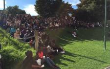 Kenyan students held a vigil at UCT on 6 April 2015 as they paid tribute to those killed in the assault. Picture: Natalie Malgas/EWN.