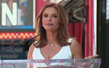Roma Downey Receives Walk of Fame Star. Picture: Screengrab/CNN