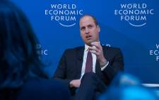 Prince William at the World Economic Forum in Davos. Picture: World Economic Forum